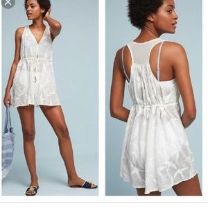 Anthropologie Shorebird Embroidered White Romper